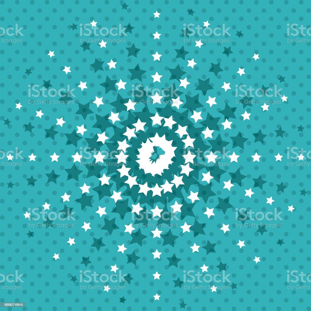 星の背景の壁紙デザインを指摘 イラストレーションのベクターアート