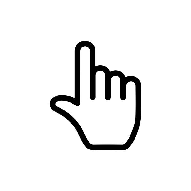pointer / click icon (finger,hand) pointer / click icon (finger,hand) pointing stock illustrations