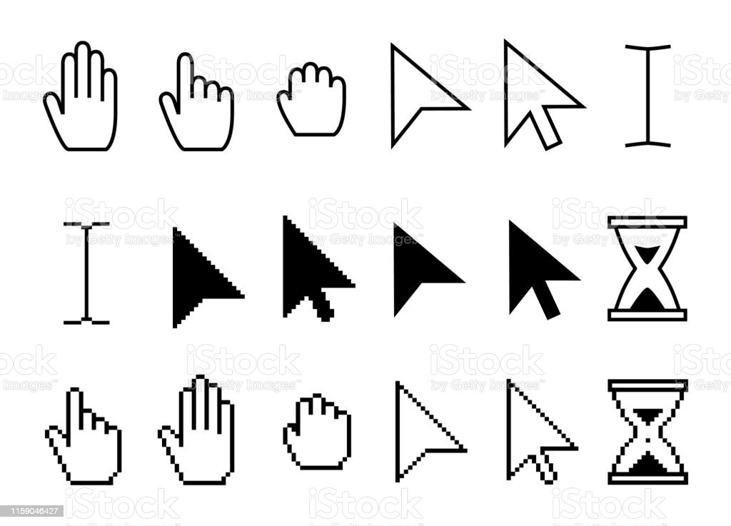 Pointer Cursor Icons Web Arrows Cursors Mouse Clicking And