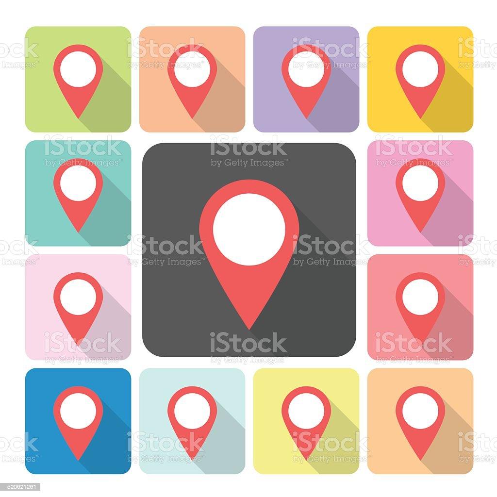 Pointer Icon color set vector illustration. vector art illustration