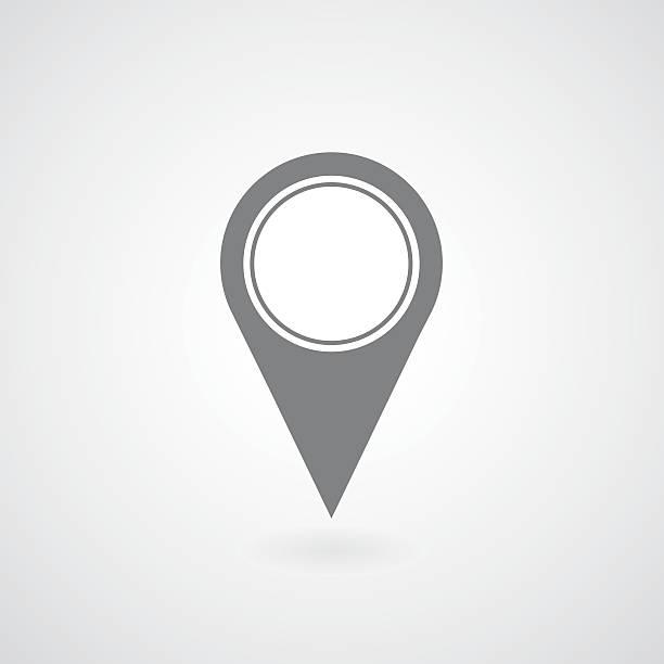 pointer icon gps mark - acute angle stock illustrations