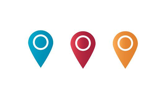 GPS pointer location map icon vector illustration stock illustration