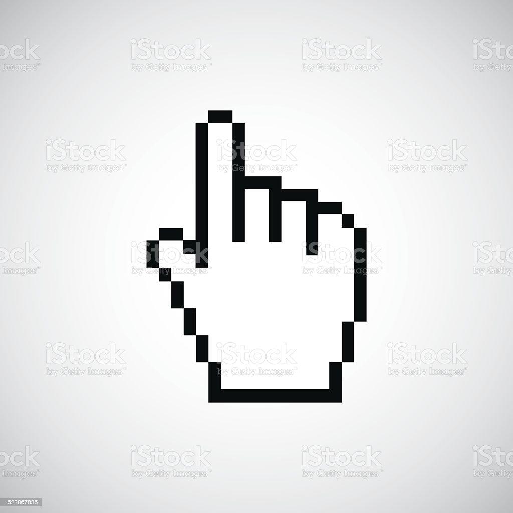 pointer pixel cursor icon vector art illustration