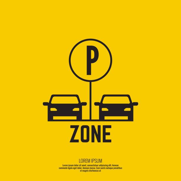 illustrations, cliparts, dessins animés et icônes de pointeur de la souris à la zone de de stationnement. - gare