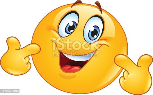 istock Pointing at himself emoticon. Pick me. 479629586