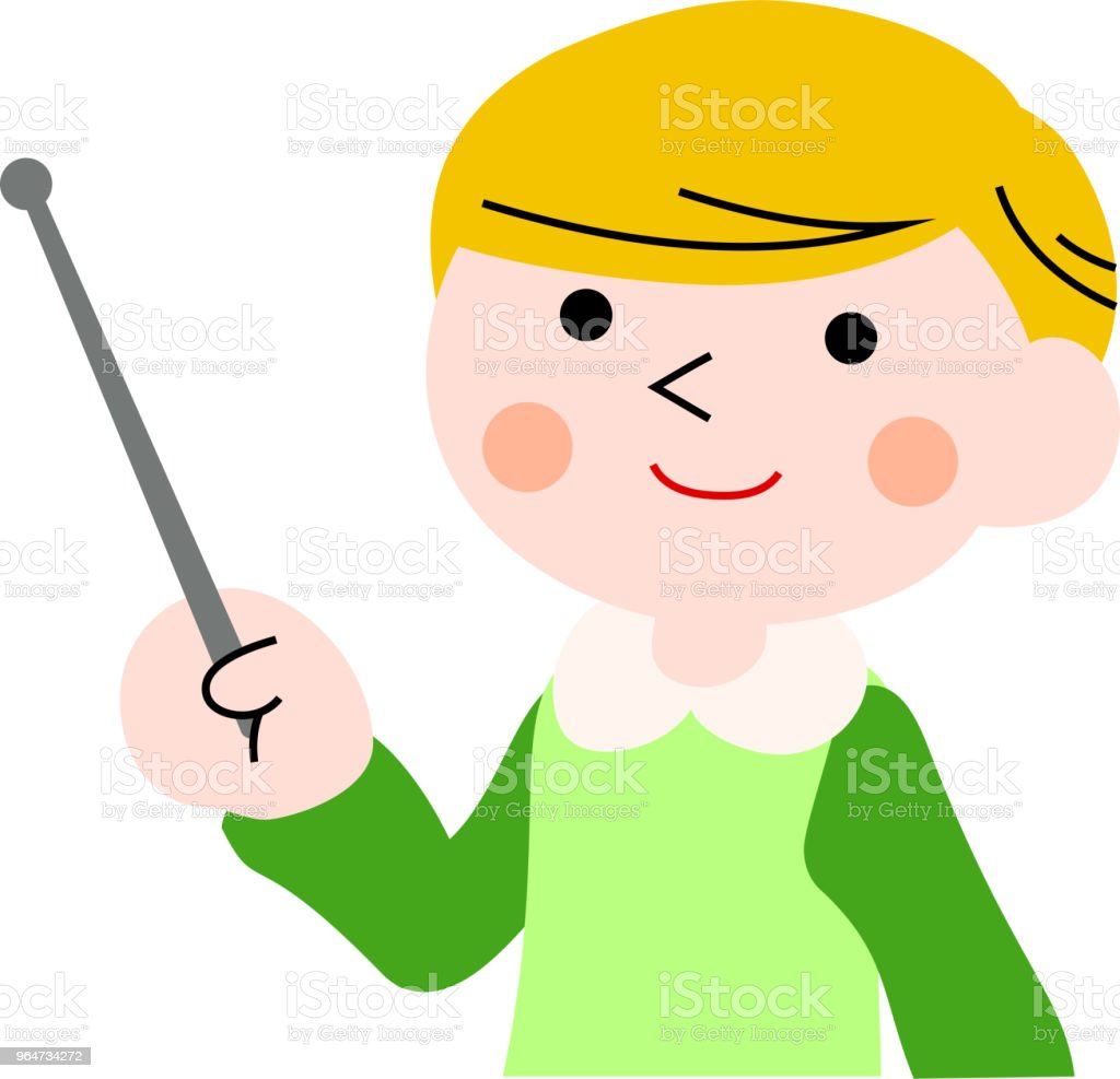 Pointing boy with pigtails 1 royalty-free pointing boy with pigtails 1 stock vector art & more images of adolescence