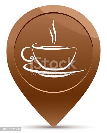 apontando café