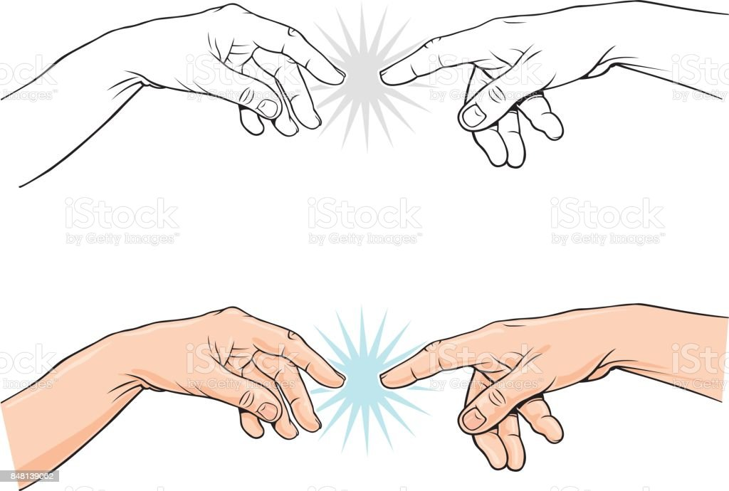 Ilustración de vector clásico dedo de señalar - ilustración de arte vectorial