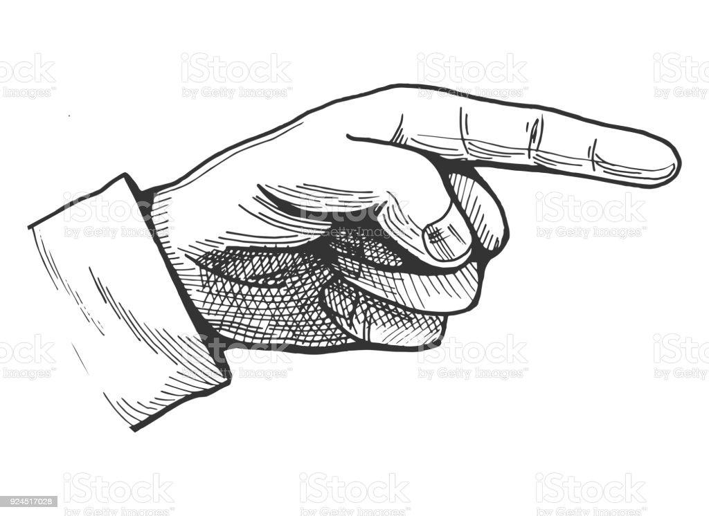 Deutende hand zeichnen stock vektor art und mehr bilder - Dessin de doigt ...