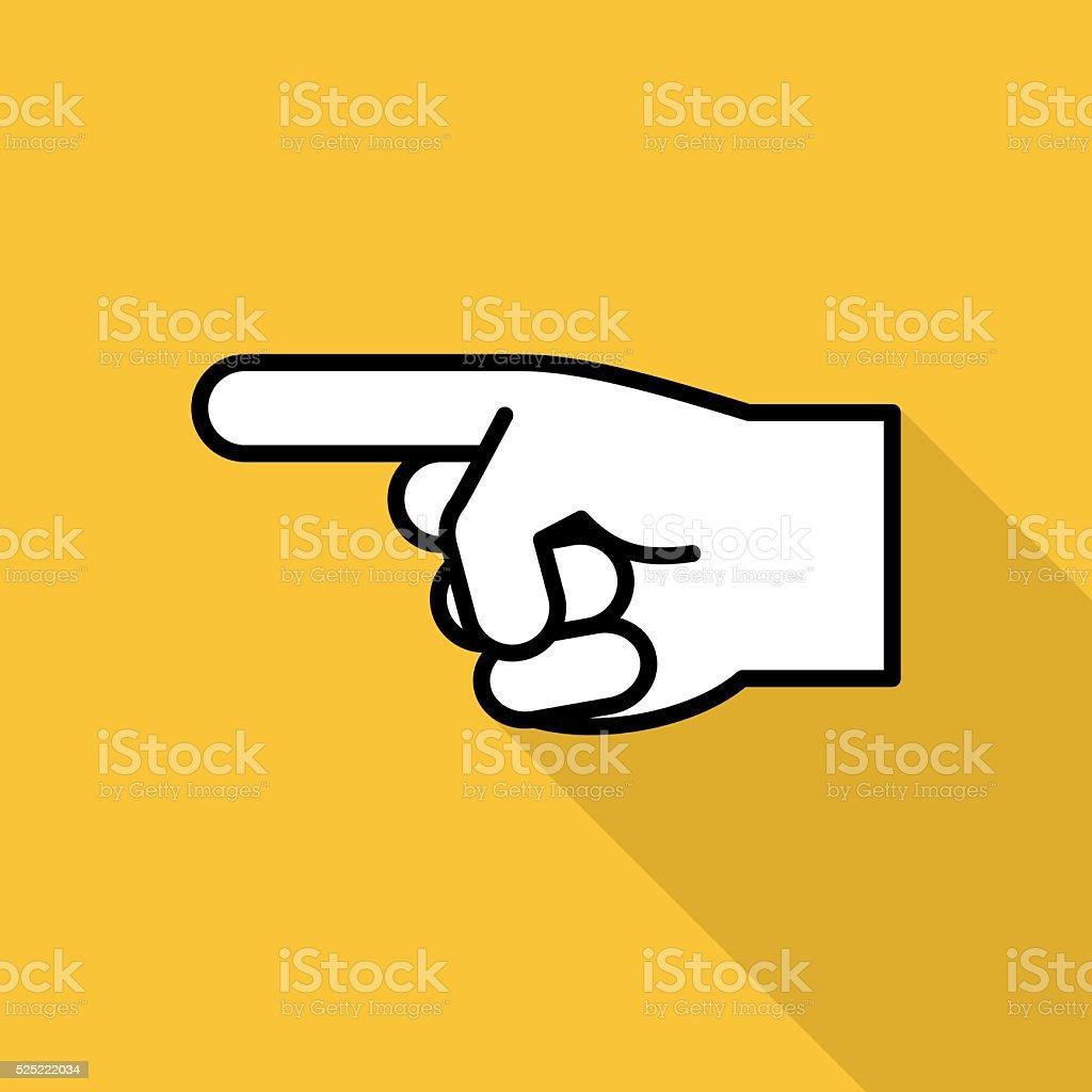 Pointing Finger Icon vector art illustration