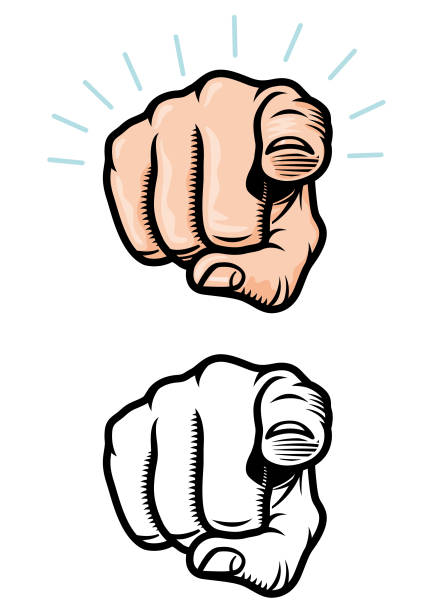 Pointing finger illustration vector art illustration
