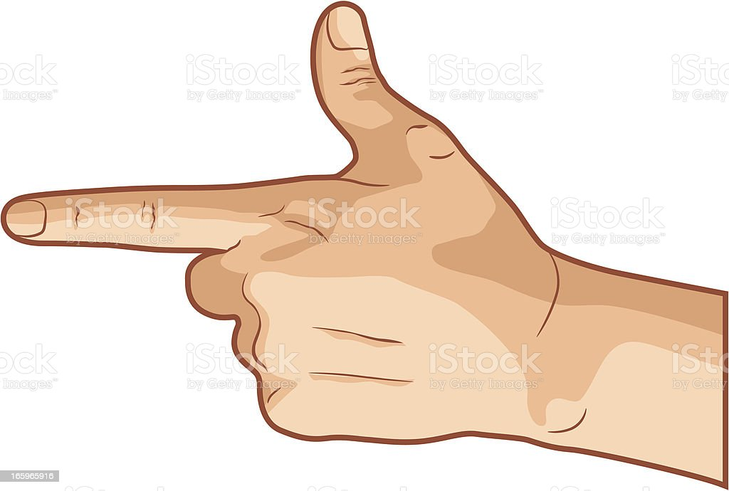 Pointing Hand Gesture vector art illustration