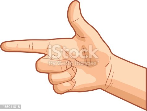 istock Pointing Hand Gesture 166011018