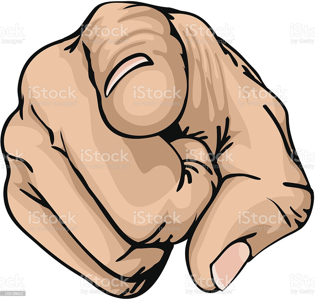 Pointing the finger royalty-free stock vector art