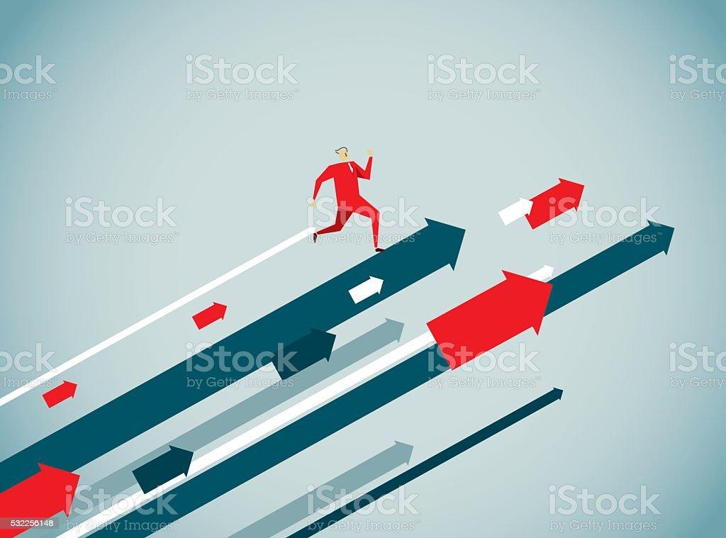 Pointing vector art illustration