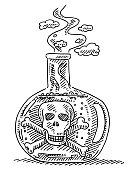 Poison Bottle Drawing