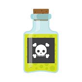 Poison bottle vector flat icon