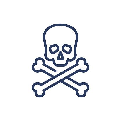 Poison thin line icon