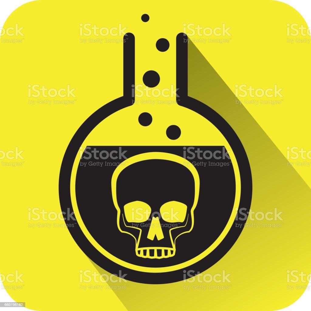 Poisonous Chemical warning sign. poisonous chemical warning sign - stockowe grafiki wektorowe i więcej obrazów badania kliniczne royalty-free