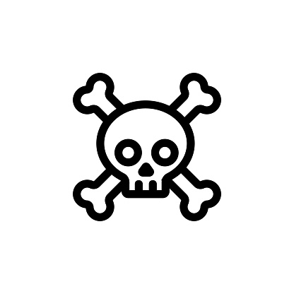 poisonous substances icon vector. Isolated contour symbol illustration