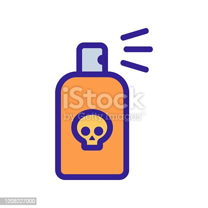 istock poisonous substances icon vector. Isolated contour symbol illustration 1205227000
