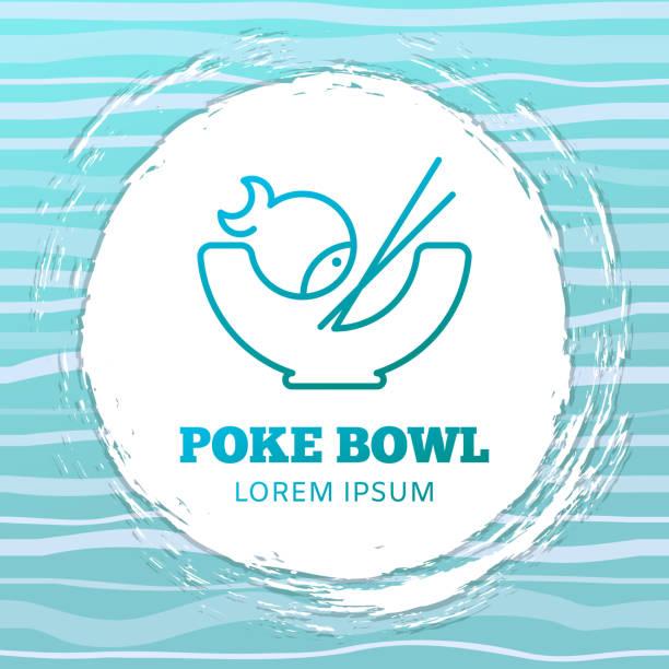 poke-schüssel vektorkonzept - salatbar stock-grafiken, -clipart, -cartoons und -symbole