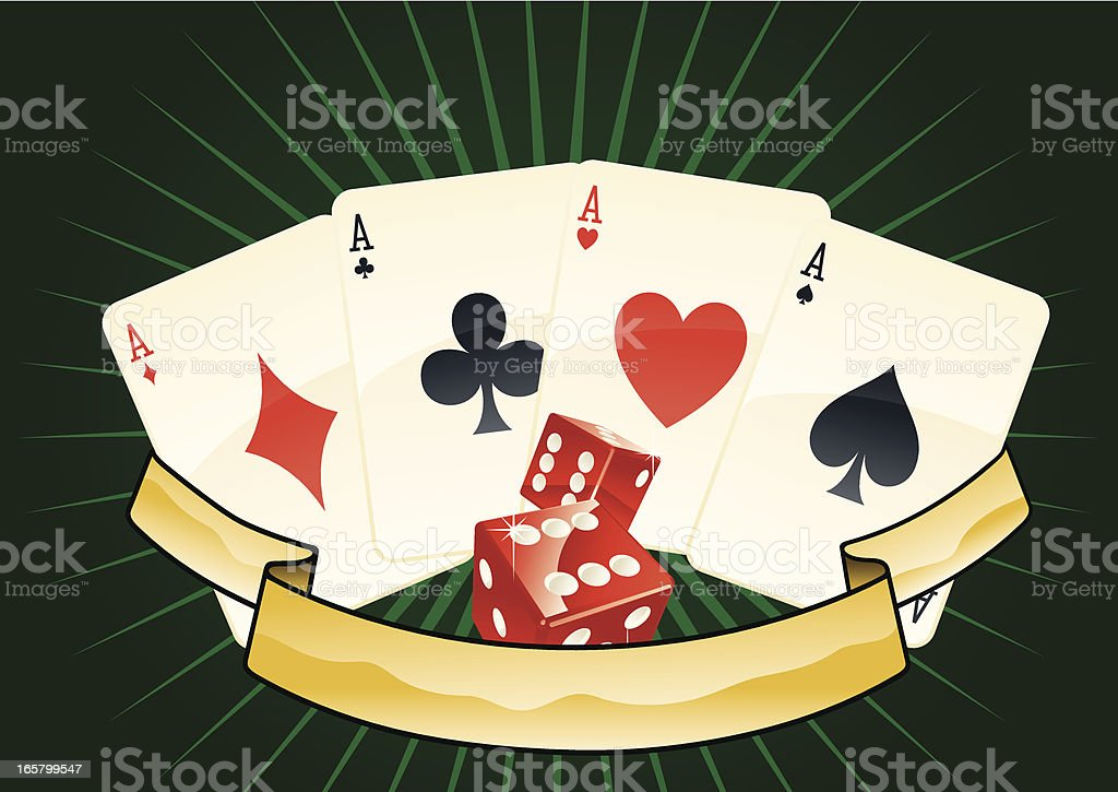 Poker Aces Marquee vector art illustration