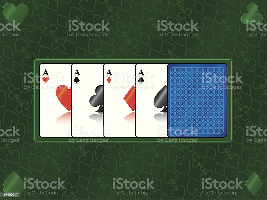 poker aces royalty-free stock vector art