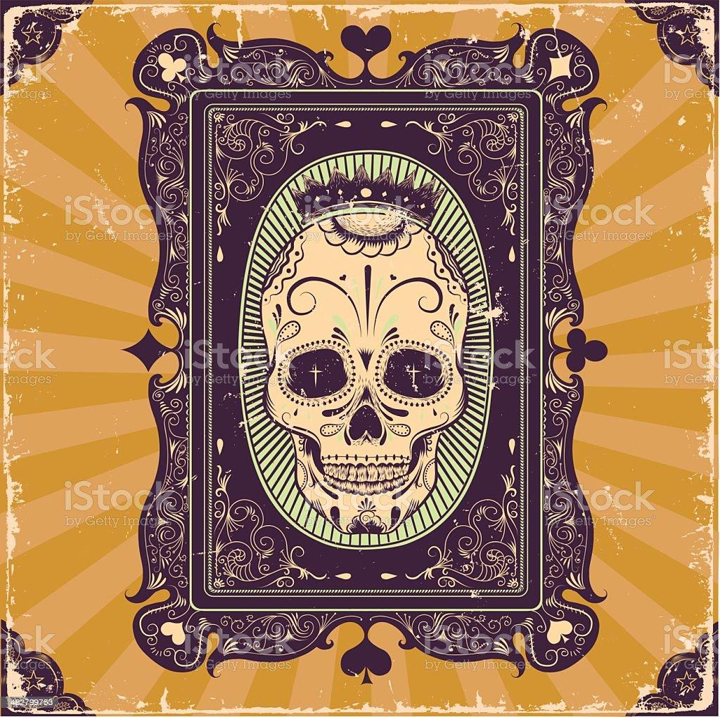 Poker card frame vector art illustration