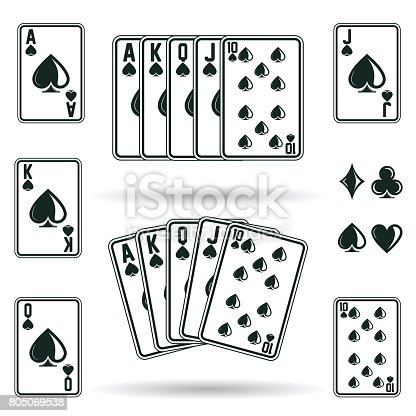 istock Poker cards combinations 805069538