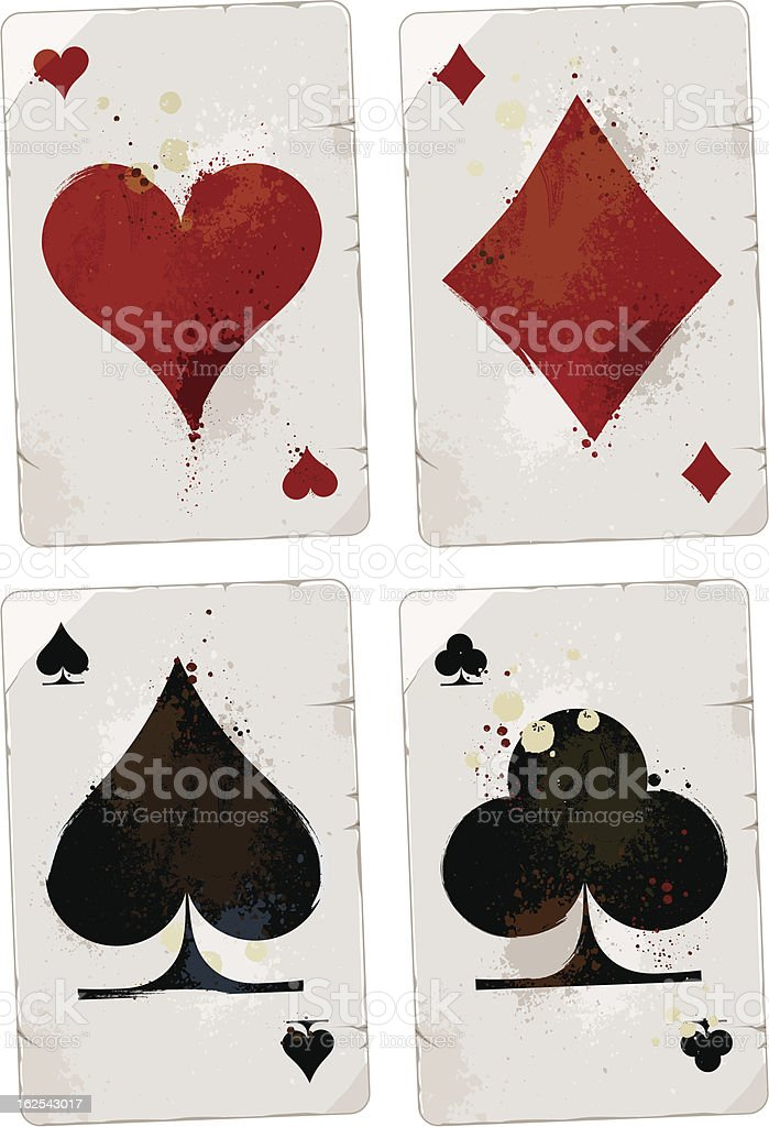Poker cards set vector art illustration
