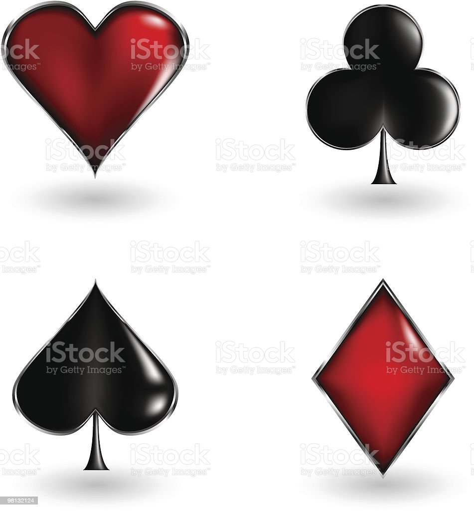 poker cards signs royalty-free poker cards signs stock vector art & more images of clubs - playing card