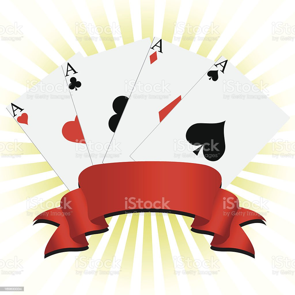 poker cards vector art illustration