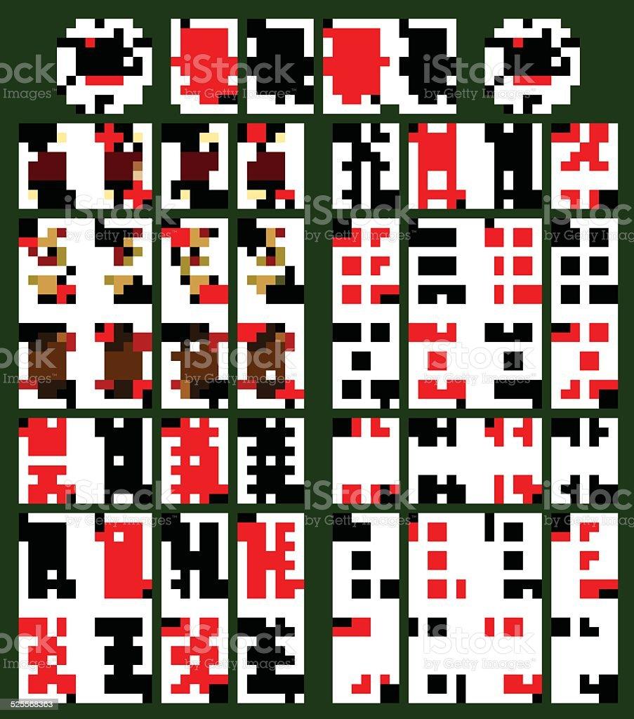 Poker cards vector art illustration