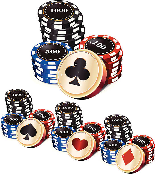 poker chips - vectors stock pictures, royalty-free photos & images
