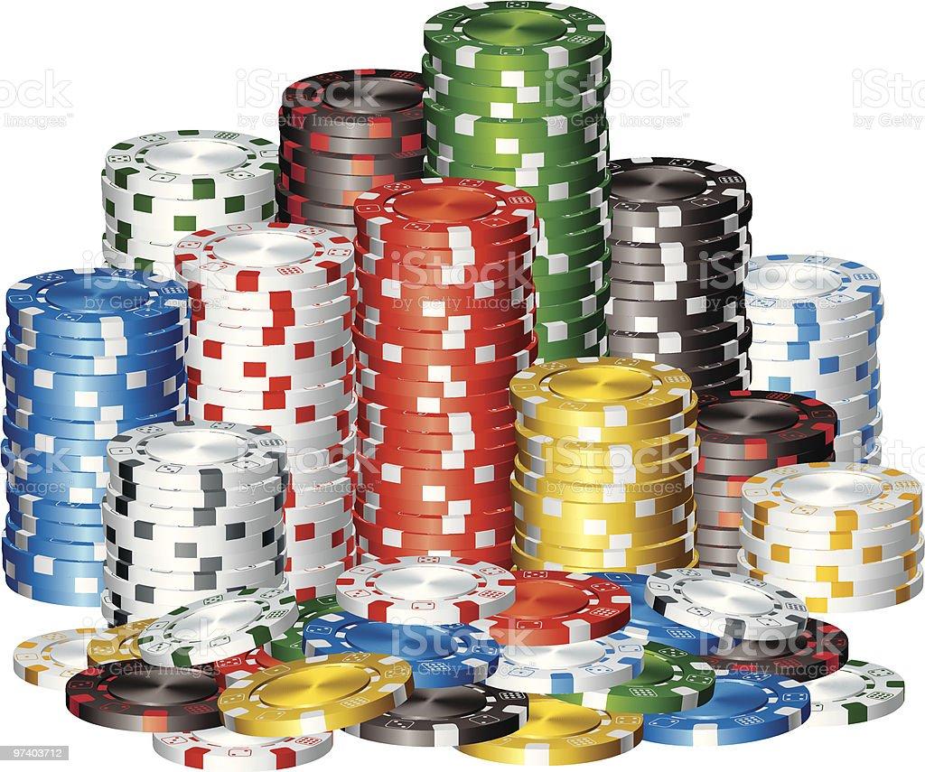Poker Chips vector art illustration