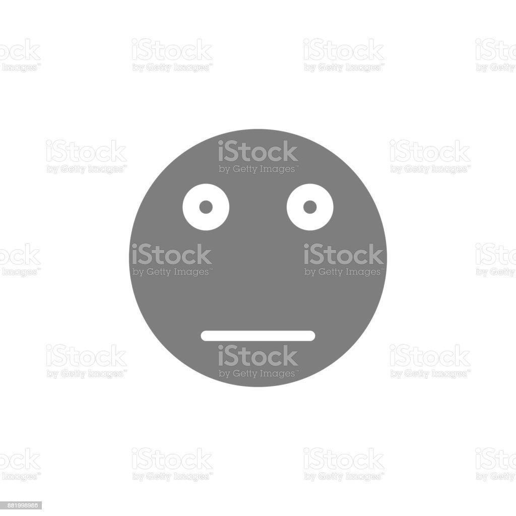 Poker face emoticon icon. Web element. Premium quality graphic design. Signs symbols collection, simple icon for websites, web design, mobile app, info graphics vector art illustration