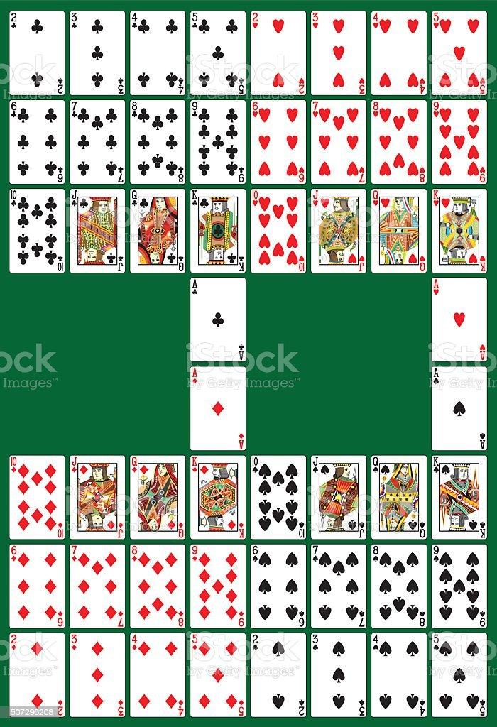 Pôquer pagamento convés - ilustração de arte em vetor