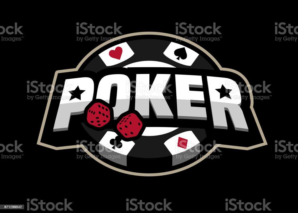 Poker game, logo emblem. vector art illustration