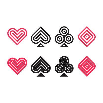 Poker icon set