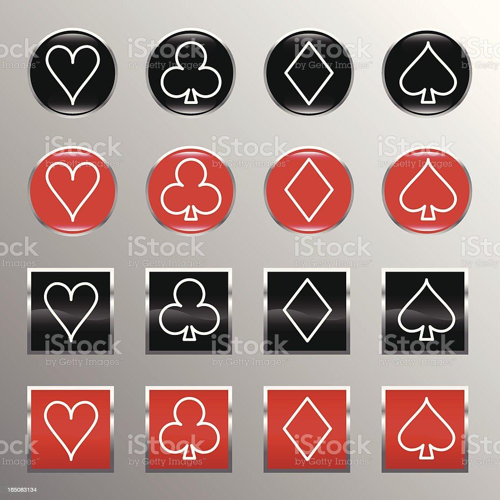 poker icons royalty-free stock vector art