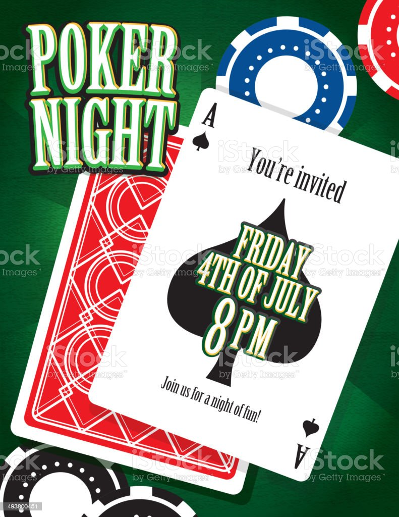 Poker Night Party And Card Game Night Invitation Design Template ...