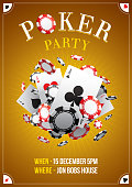 Poster for a poker night party