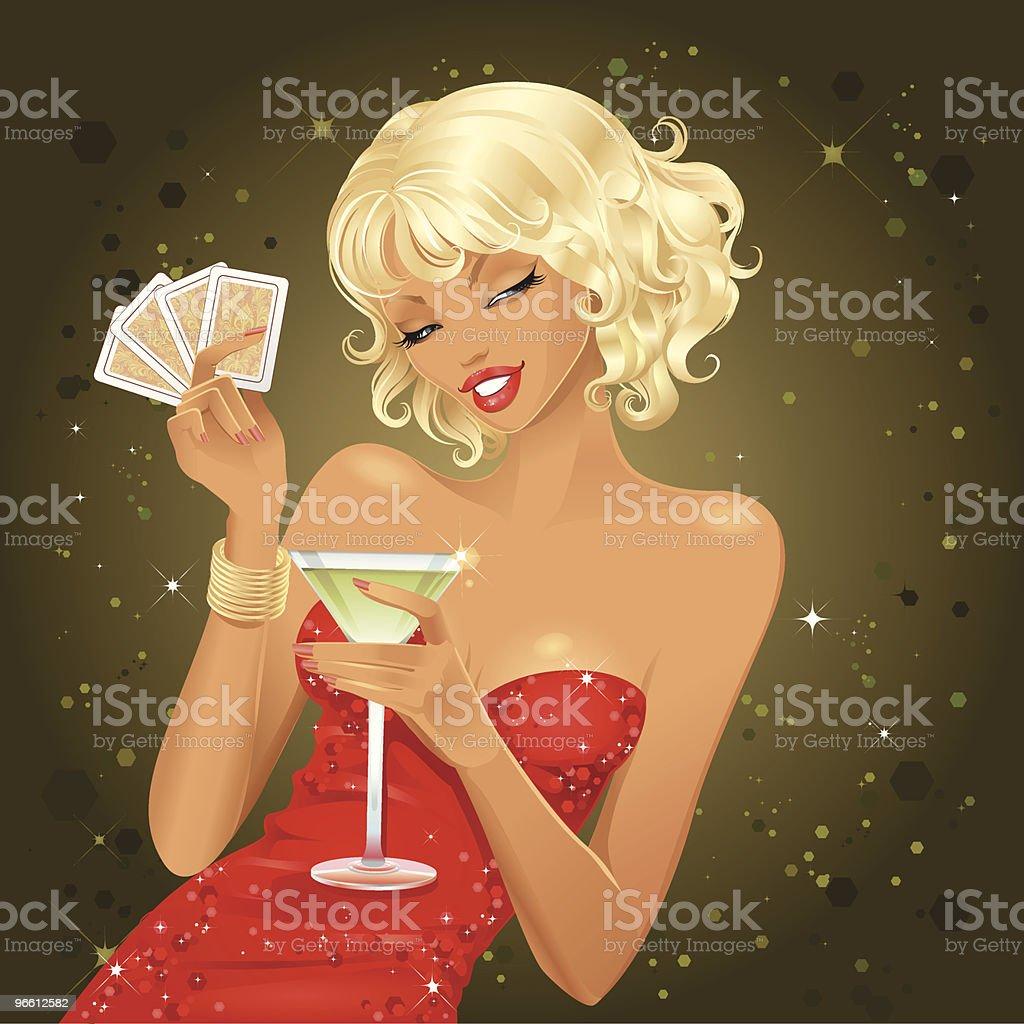Poker Queen vector art illustration