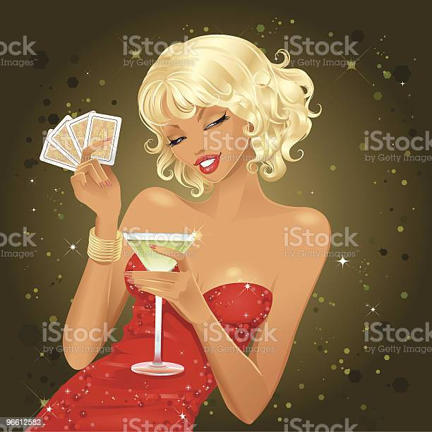 Покер Двуспальной Кроватью Queen Size — стоковая векторная графика и другие изображения на тему Азартные игры