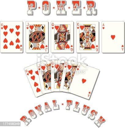 istock Poker Royal Flush 177458349