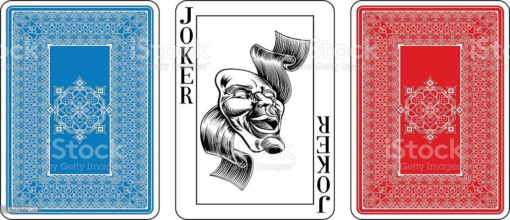 Karty Do Gry Pokera Rozmiar Karcie Joker Z Tylu Stockowe Grafiki