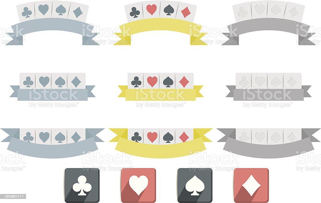 Poker symbols vector art illustration