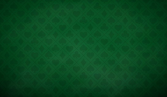 Poker table background in green color