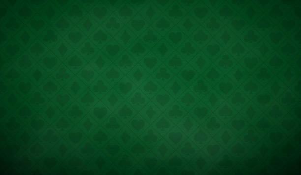 bildbanksillustrationer, clip art samt tecknat material och ikoner med pokerbordsbakgrund i grön färg - bord